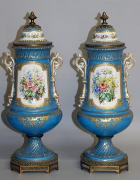 182. A Good Pair Of 19th Century Sevres Porcelain Two