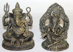 238. Two Indian Elephant God Figure. 6ins High.