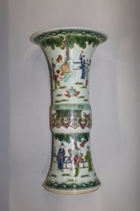 280. A Large Chinese Famille Rose-verte Porcelain