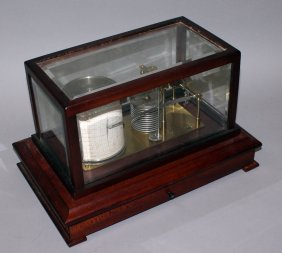 283 A Mahogany Cased Barograph By Casella, London.