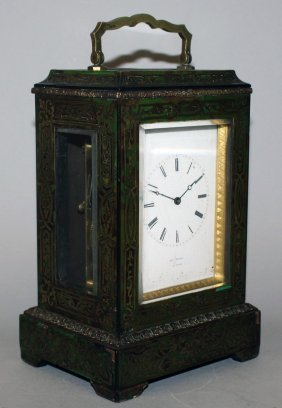 289. A Good 19th Century French Boulle Carriage Clock