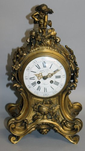 295. A Good 19th Century French Ormolu Cased Clock By