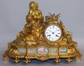 298. A Good 19th Century French Ormolu Clock By J.