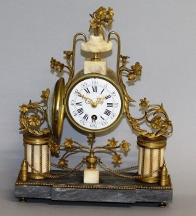316. A Good French Empire Drum Mantle Clock With