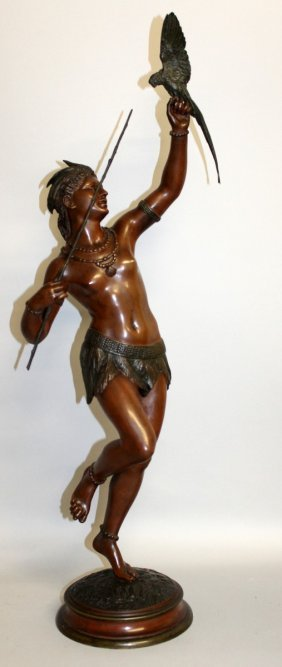353. A. Bougeois (1838-1886) French A Superb Bronze
