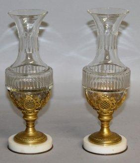 471. A Good Pair Of Palais Royal Glass Ormolu And