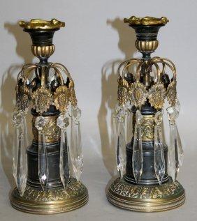 474. A Small Pair Of Regency Empire Bronze