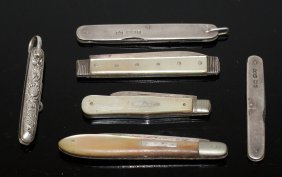 571. Three Bladed Mother-of-pearl Fruit Knives And