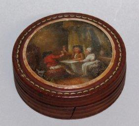 586. A Georgian Tortoiseshell Circular Box And Cover,
