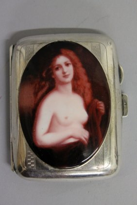 630. A Silver Cigarette Case, Birmingham 1923, With An