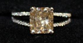 701. A Superb Natural Yellow Diamond Single Stone