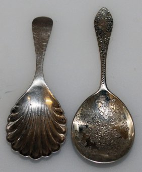 961. A Victorian Engraved Caddy Spoon, London 1891 And