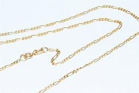 "14k Gold Italian Figaro Chain 22"" Necklace -1.75mm"