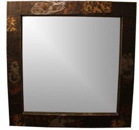Brutalist Mirror By Paul Evans