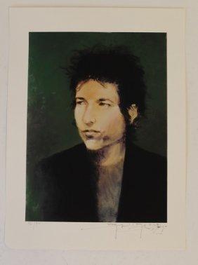 Stanley Mouse Signed Bob Dylan Vintage Poster