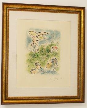 """Chagall Proof """"amour Et Un Dieu Enfants"""" 1967"""