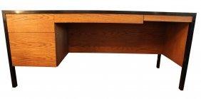 Harvey Probber Executive Mahogany & Oak Desk