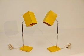 Pair Of Sonneman Desk Lamps For Kovacs
