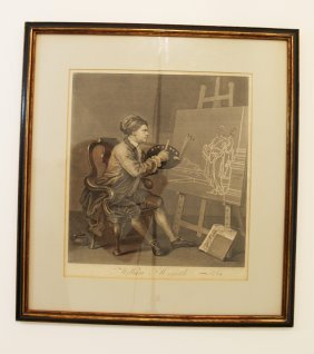 """artist And Easel"" By William Hogarth"