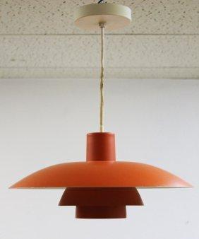 Paul Henningsen For Poulsen Orange Tiered Light Fixture