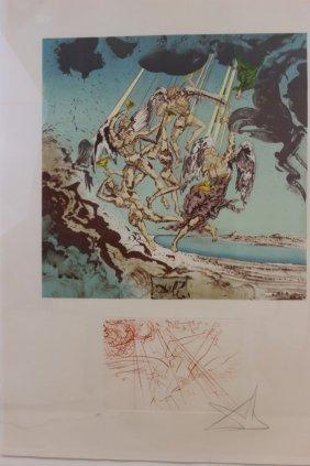 Return Of Ulysses Signed By Salvador Dali