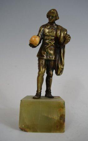 Antique Standing Artist Bronzefigurine