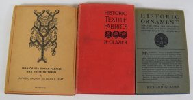 Lot Of 3 Old Books On Textile And Fabrics