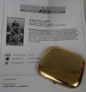 1907 German Presentation Cigarette Case To General