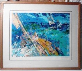 "Leroy Neiman Serigraph ""ocean Sailing"", Signed In"