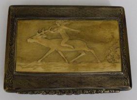 19th Century European Sterling Silver Tobacco Box