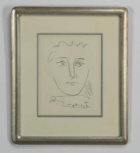 After Pablo Picasso, Etching 'pour Roby'