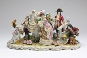 "19th C. Schiebe-Alsbach Porcelain Grouping, 17""long"
