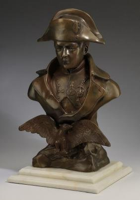 "Bronze Bust Of Napoleon Bonaparte, 19th C., 22""h"
