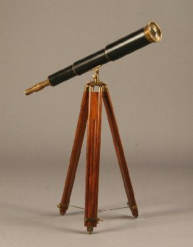 Vintage Telescope With Tripod Stand