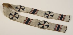 19th C. Sioux Indian Beaded Blanket Strip