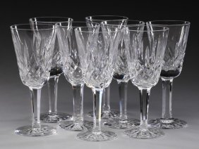 (8) Waterford Crystal Lismore Sherry Glasses