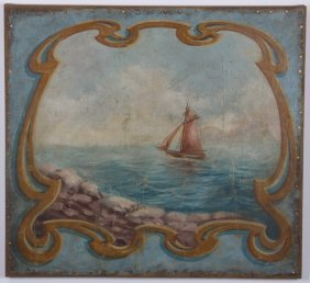 Early 20th C. Oil On Canvas Seascape