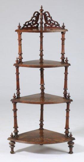 19th C. English Victorian Mahogany Etagere