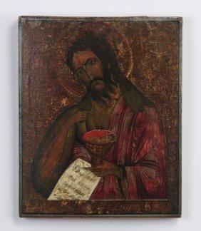19th C. Russian Icon Of John The Baptist