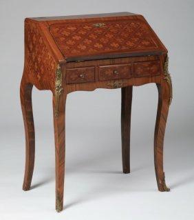 Petite French-style Slant Front Desk, 20th C.