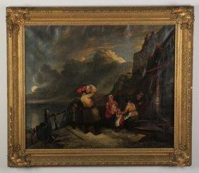 19th Century O/c, Fisherman's Return