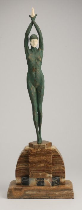 Bronze Figural Sculpture, After Chiparus