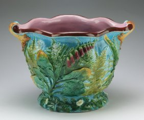 Majolica Jardiniere Attrib. To Minton, 19th C