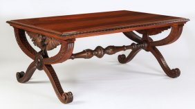 Luigi Frullini Attr. Library Table, 19th C.