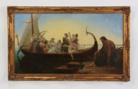 "19th C. O/c Of Allegorical Scene, 60""w"