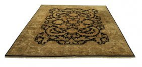 Hand Knotted Indo-persian Wool Rug, 9 X 12