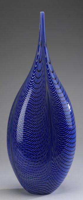 """Lino Tagliapietra Murano Glass Vessel, 30""""h"""