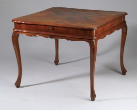 Parquetry Inlaid Game Table