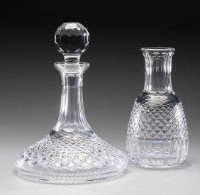 (2) Waterford Lismore Wine Carafe & Decanter