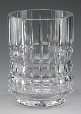 "Baccarat Crystal Vase, 9.5""h, Marked"